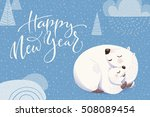 cartoon style christmas vector...   Shutterstock .eps vector #508089454