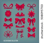 set of red cartoon style bow...   Shutterstock .eps vector #508095703