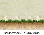 perspective wood floor against... | Shutterstock . vector #508099036