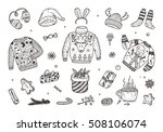ugly christmas sweater party.... | Shutterstock .eps vector #508106074