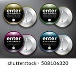 set of 4 color button vector... | Shutterstock .eps vector #508106320
