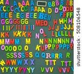 abc alphabets on wooden... | Shutterstock . vector #508106548
