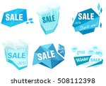 winter ice sale set. snow cold... | Shutterstock .eps vector #508112398