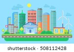 urban and village landscape... | Shutterstock .eps vector #508112428