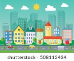 vector urban landscape flat...   Shutterstock .eps vector #508112434