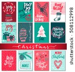 collection of nine christmas... | Shutterstock .eps vector #508112998