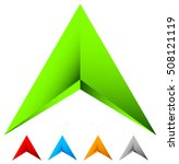 sharp edgy 3d arrow icon in... | Shutterstock .eps vector #508121119