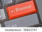 keyboard with key for discount | Shutterstock . vector #50812747