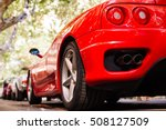 back view of red ferrari.... | Shutterstock . vector #508127509