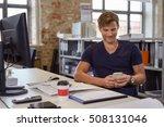 smiling man in short sleeve... | Shutterstock . vector #508131046
