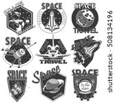 set of vector icons  space. | Shutterstock .eps vector #508134196