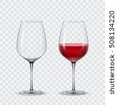 set transparent vector wine... | Shutterstock .eps vector #508134220