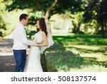 the lovely couple in love... | Shutterstock . vector #508137574