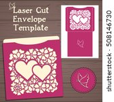 lasercut vector wedding... | Shutterstock .eps vector #508146730