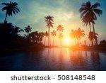 magical sunset on a tropical... | Shutterstock . vector #508148548