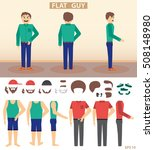 the character in the style of a ... | Shutterstock .eps vector #508148980