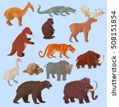 ice age animals set with... | Shutterstock .eps vector #508151854