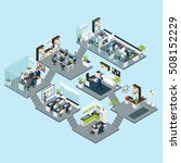 colored office isometric...   Shutterstock .eps vector #508152229
