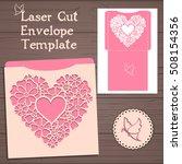 lasercut vector wedding... | Shutterstock .eps vector #508154356