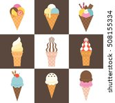 soft serve ice cream cone with... | Shutterstock .eps vector #508155334