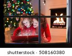 mother and daughter read a book ...   Shutterstock . vector #508160380