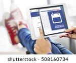 appointment agenda reminder...   Shutterstock . vector #508160734