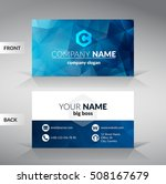 blue modern business card... | Shutterstock .eps vector #508167679