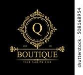 luxury logo template in vector... | Shutterstock .eps vector #508168954