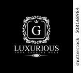 luxury logo template in vector... | Shutterstock .eps vector #508168984