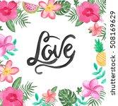 love card template with modern... | Shutterstock . vector #508169629