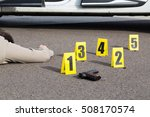 id tents at crime scene after... | Shutterstock . vector #508170574