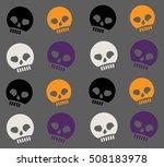 spooky silly skull pattern | Shutterstock .eps vector #508183978