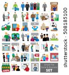 simple flat social and business ... | Shutterstock .eps vector #508185100