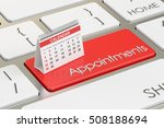 appointments concept with... | Shutterstock . vector #508188694