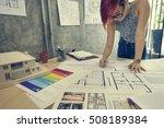 design studio architect... | Shutterstock . vector #508189384