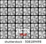 vector silver alphabet letters. | Shutterstock .eps vector #508189498