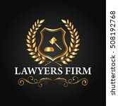 luxury lawyer firm and lawyer... | Shutterstock .eps vector #508192768
