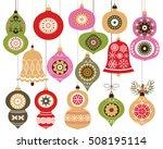 christmas ornaments set ... | Shutterstock .eps vector #508195114