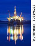 semi submersible oil rig during ... | Shutterstock . vector #508196218