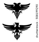 dark evil heraldic eagle with... | Shutterstock .eps vector #508199290