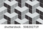 seamless gray isometric cubical ... | Shutterstock .eps vector #508202719