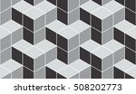 seamless gray isometric cubical ... | Shutterstock . vector #508202773