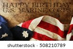 Happy Birthday US Marine Corps Flag and Woods
