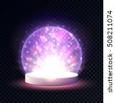 shining crystal ball on a... | Shutterstock .eps vector #508211074
