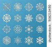 vector snowflake icons set. | Shutterstock .eps vector #508213450