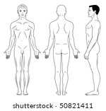 full length profile  front ... | Shutterstock .eps vector #50821411
