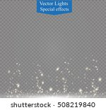 white sparks and golden stars... | Shutterstock .eps vector #508219840