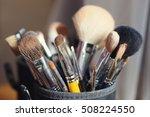 various makeup brushes | Shutterstock . vector #508224550