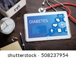 diabetes on screen tablet pc ... | Shutterstock . vector #508237954
