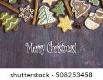 merry christmas year card | Shutterstock . vector #508253458